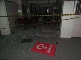 Grupo explode caixa eletr�nico em Mogeiro, no Agreste da Para�ba
