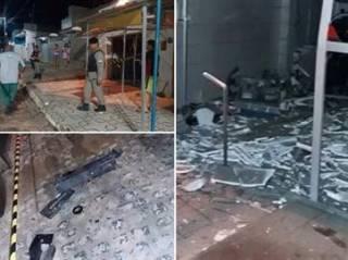 Grupo explode caixa eletr�nico e foge atirando para cima na Para�ba